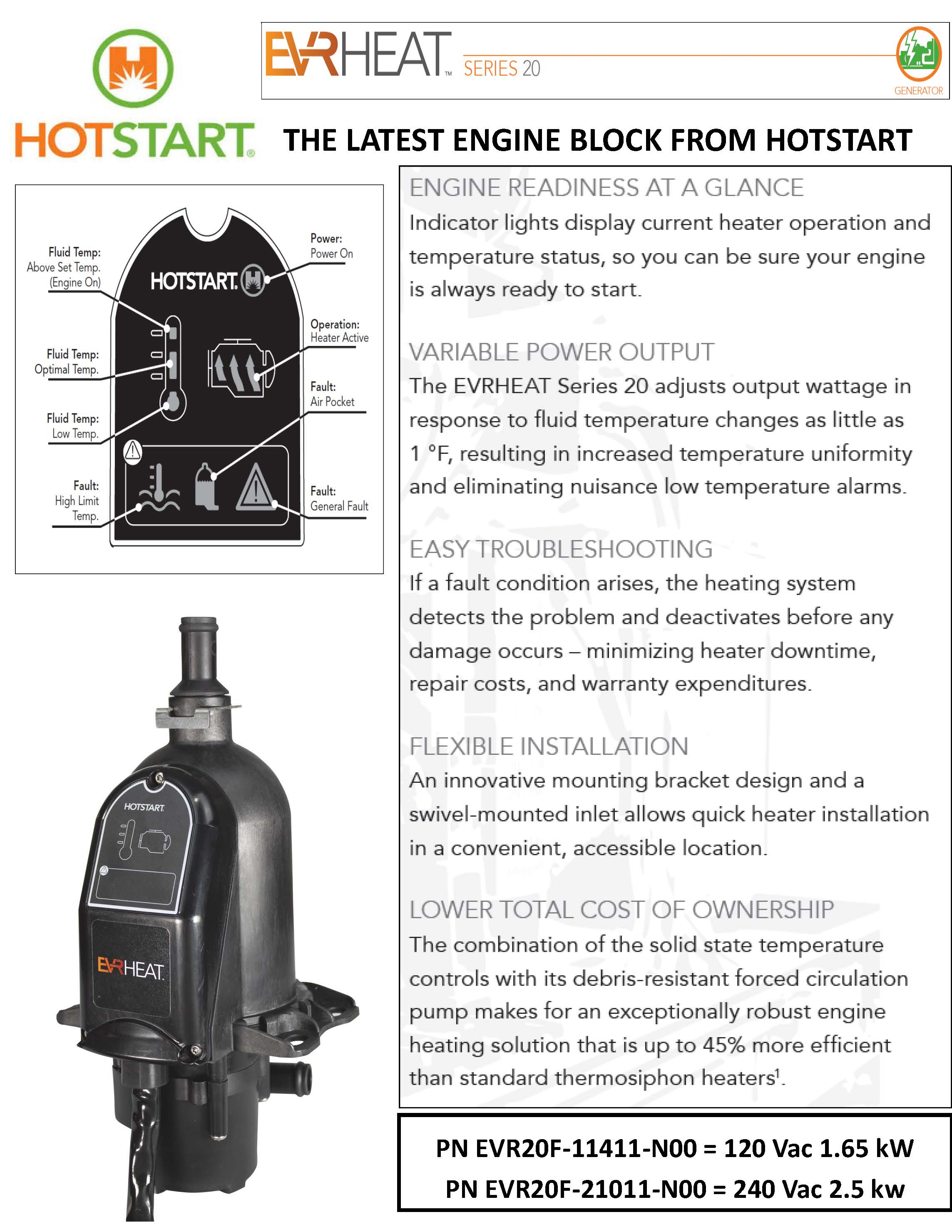 Hotstart EVRHeat Engine Block Heater